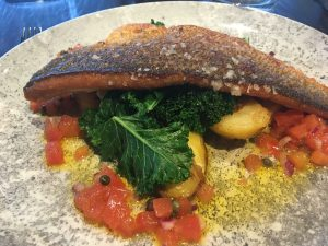 Sea bass at 1539 Chester Racecourse