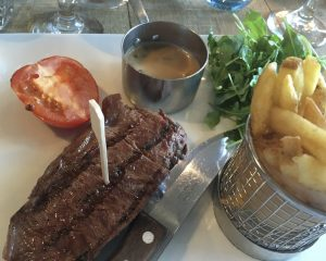 Gluten free steak and chips at Egos Stockton Heath!
