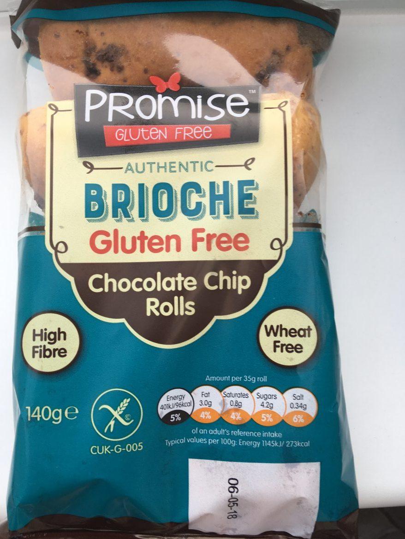 Promise brioche gluten free chocolate chip rolls