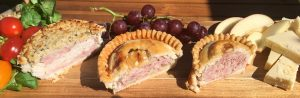 Selection of free from pork pies from Voakes