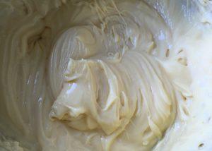 Freshly whipped custard