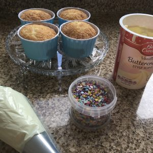 All set to decorate gluten free muffins!