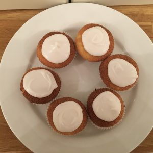 Gluten free buns with glace icing