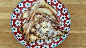 French toast made with Juvela fresh white loaves