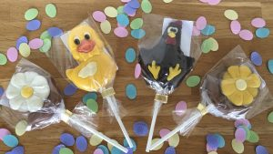 Bon bon Easter chocolate lollipops