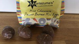 Montezumas milk chocolate peanut butter mini eggs