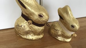 Lindt dark and chocolate bunny