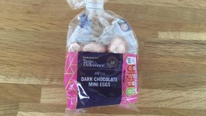 Sainsburys Swiss dark chocolate eggs