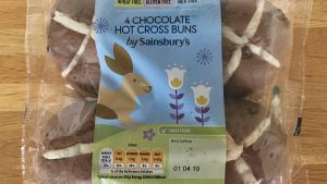 Sainsburys gluten free chocolate hot cross buns