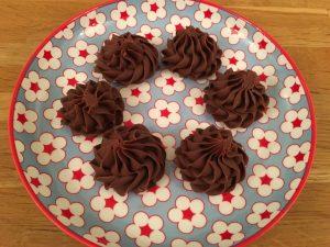 Chocolate fudge on a pretty plate