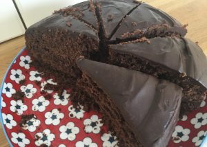 Gluten free chocolate cake portions