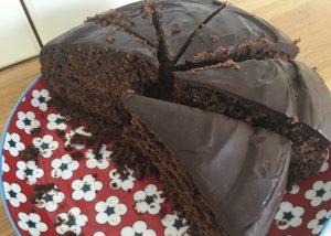 Gluten free chocolate cake portions