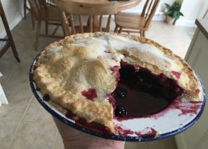 Gluten free blackcurrant pie