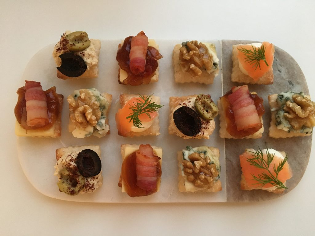 Gluten free canapés made using Jus - Rol puff pastry