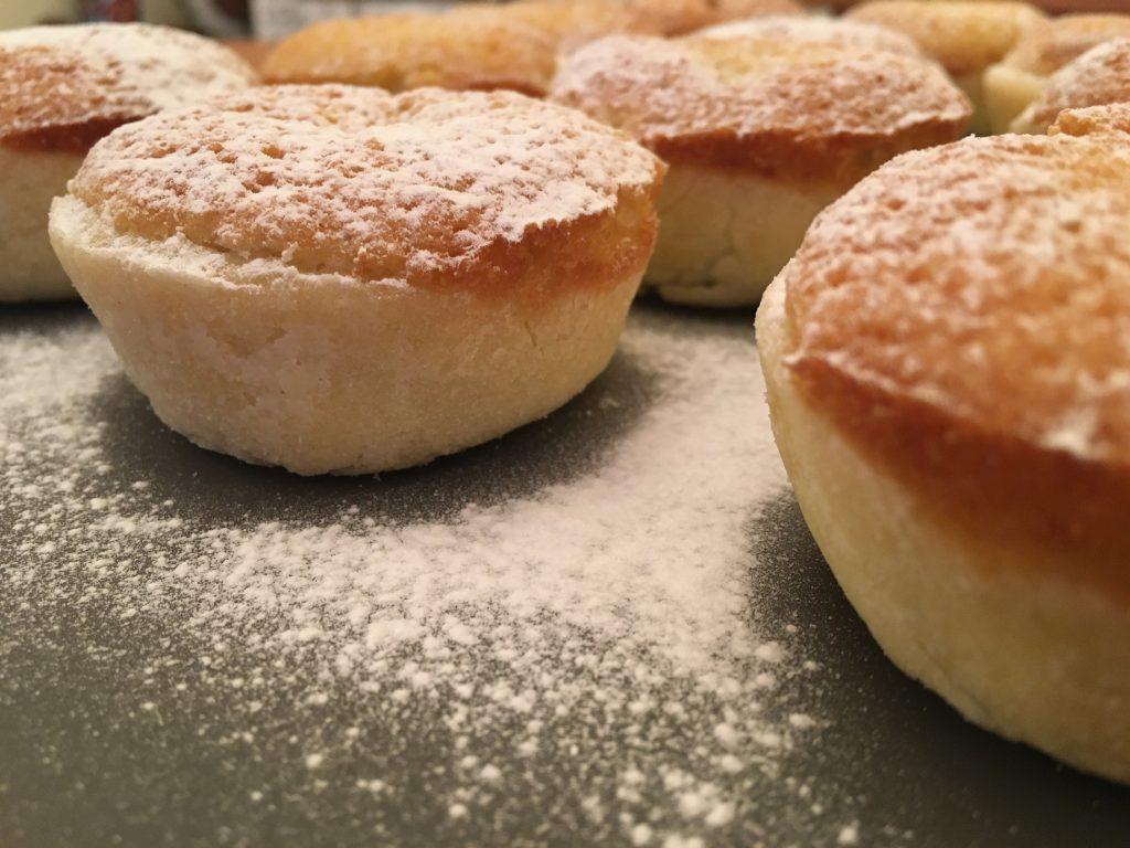 Gluten free frangipane topped miscopies