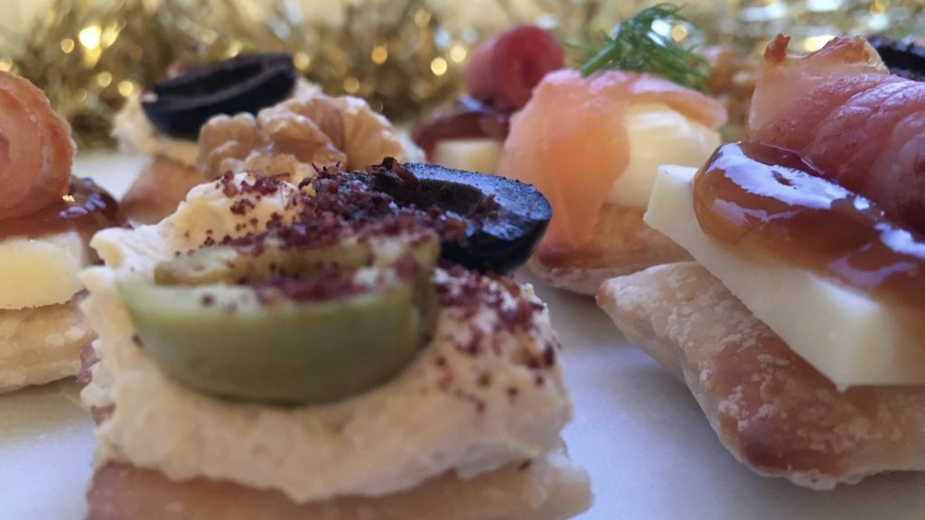 Gluten free puff pastry canapés - made with Jus-Rol gluten free puff pastry