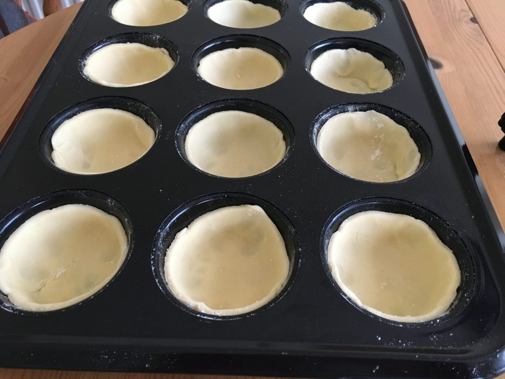 Gluten free pasty bases for gluten free Cherry Bakewell's