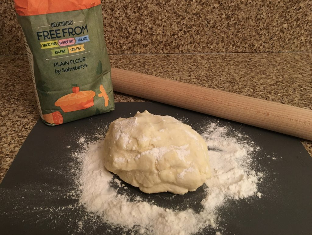 Gluten free pastry made with Sainsbury's gluten free plain flour