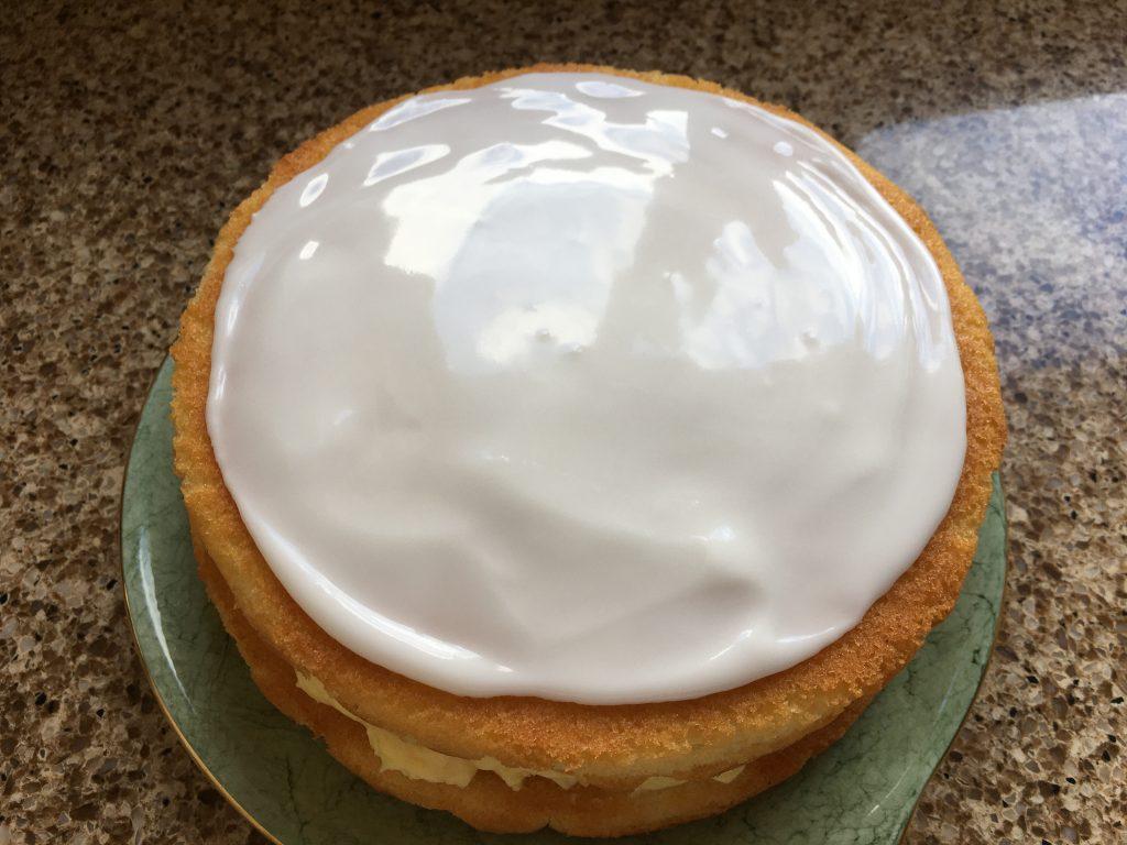 Assembling gluten free Russian sandwich cake
