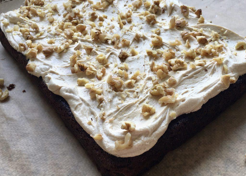 Gluten free date and walnut traybake