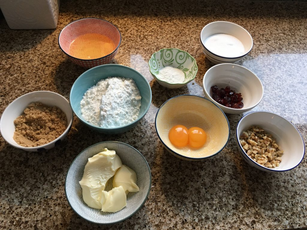 Ingredients for gluten free Yum Yum cake