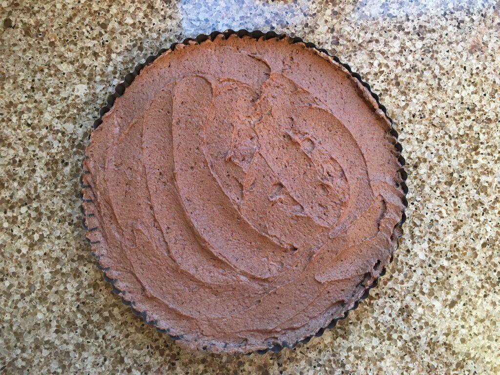 Gluten free dark chocolate and ginger tart