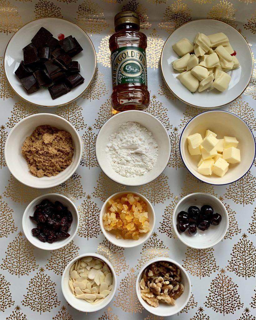 Ingredients for gluten free Florentines