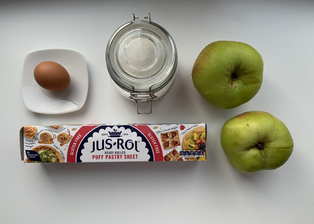 Ingredients for gluten free apple turnovers