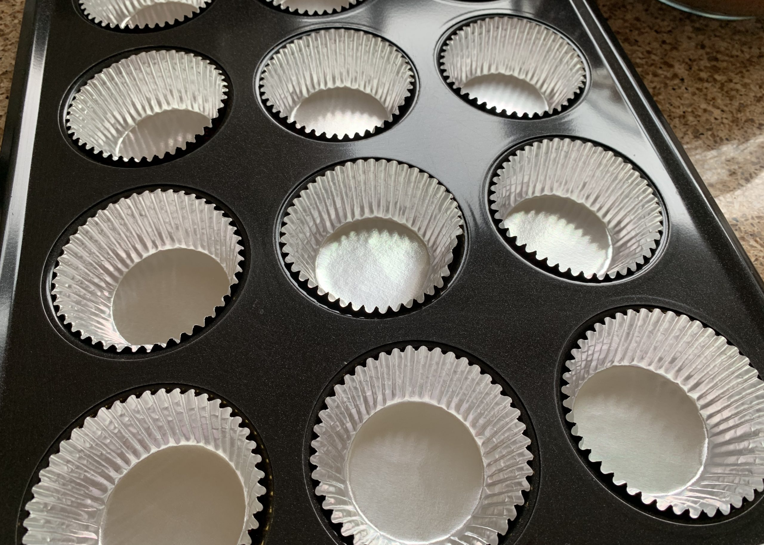 Foil muffin cases for gluten free Easter cupcakes