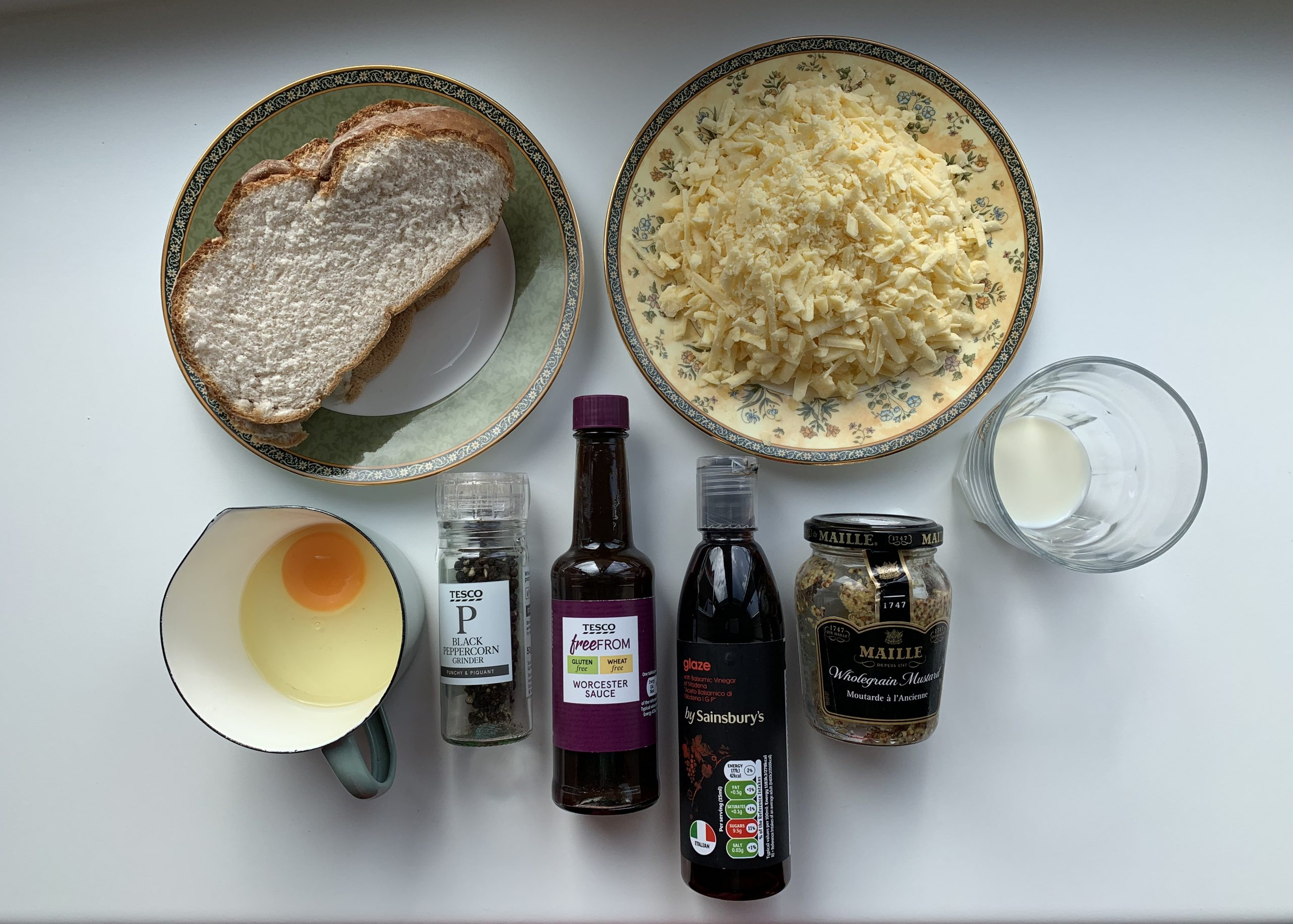 ingredients for Welsh rarebit