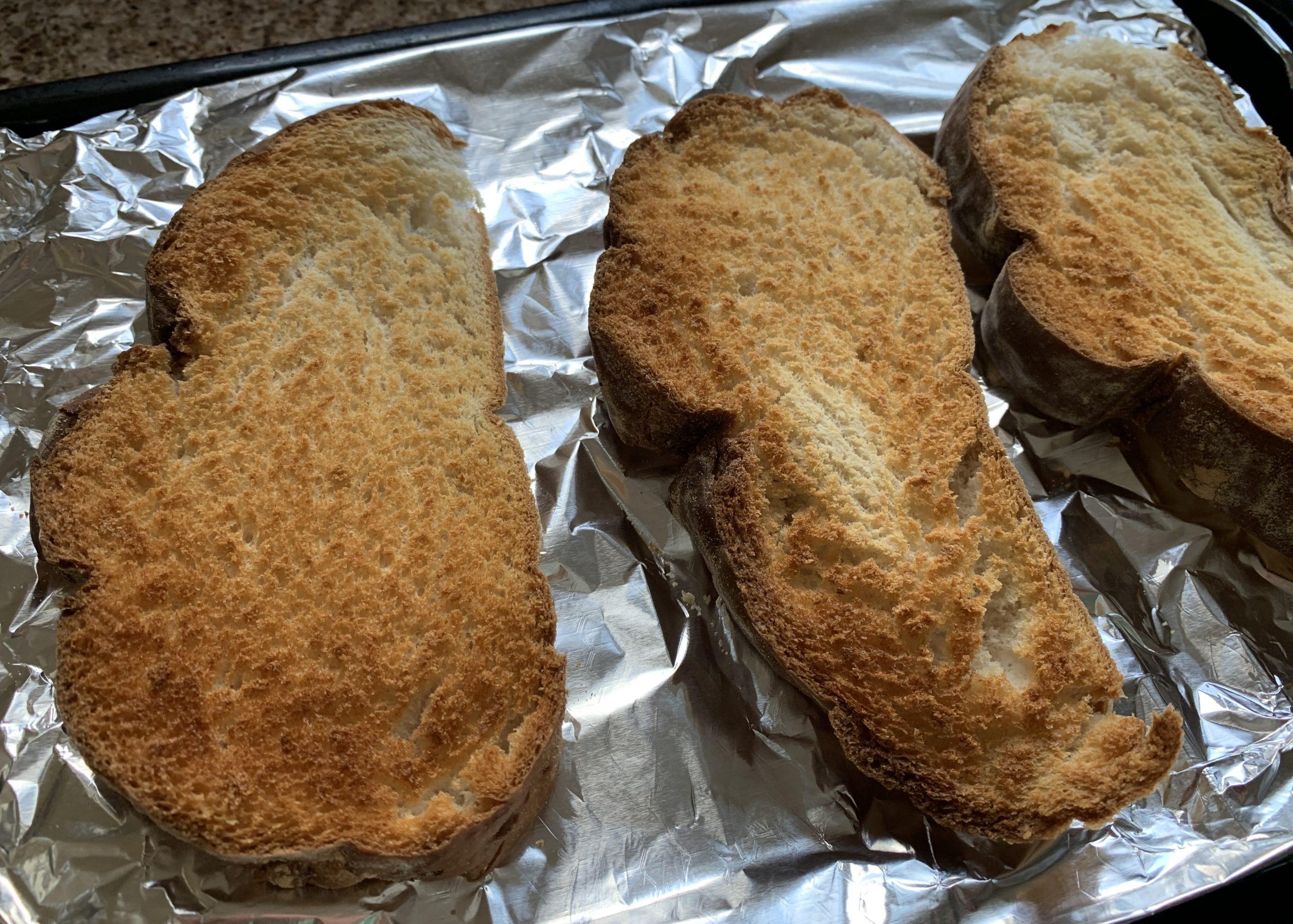 Gluten free toasted bread