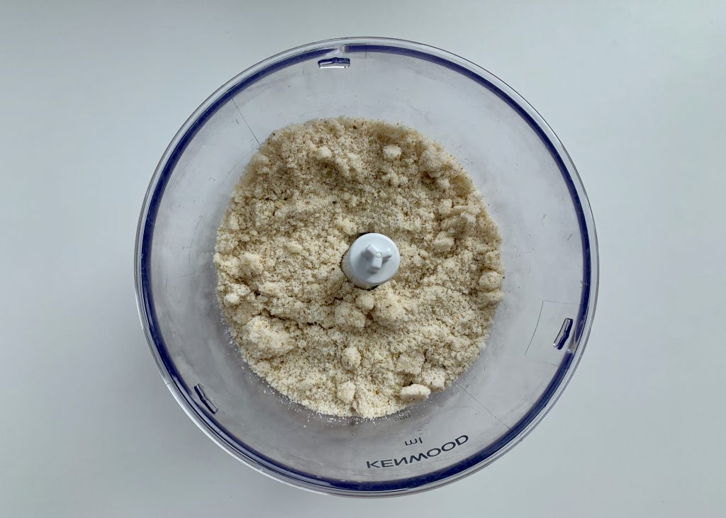Finely blended walnuts and sugar