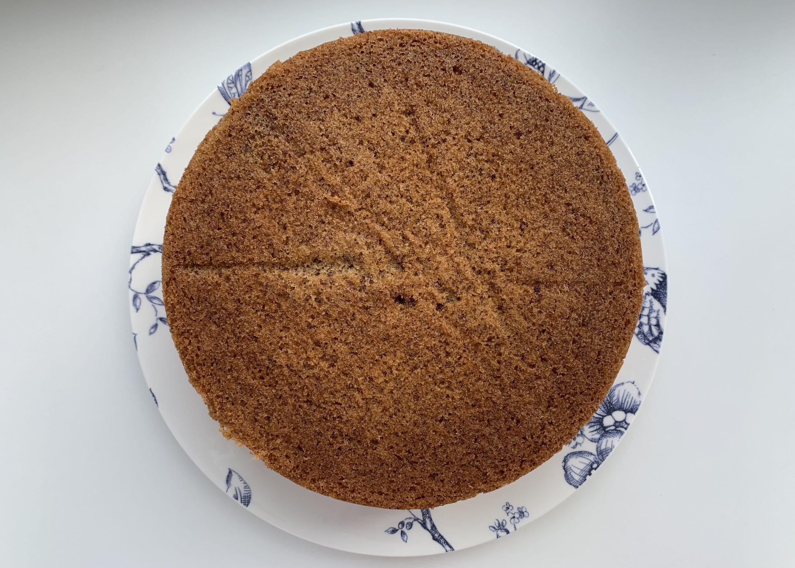 Gluten free coffee and walnut cake