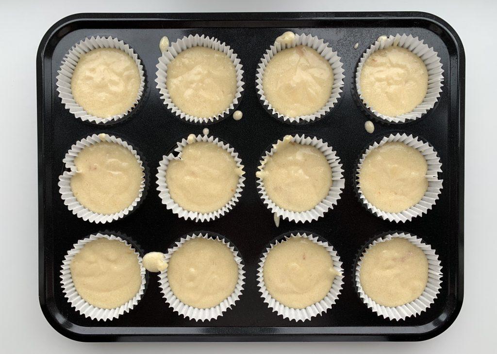 Gluten free citrus muffins prior to baking