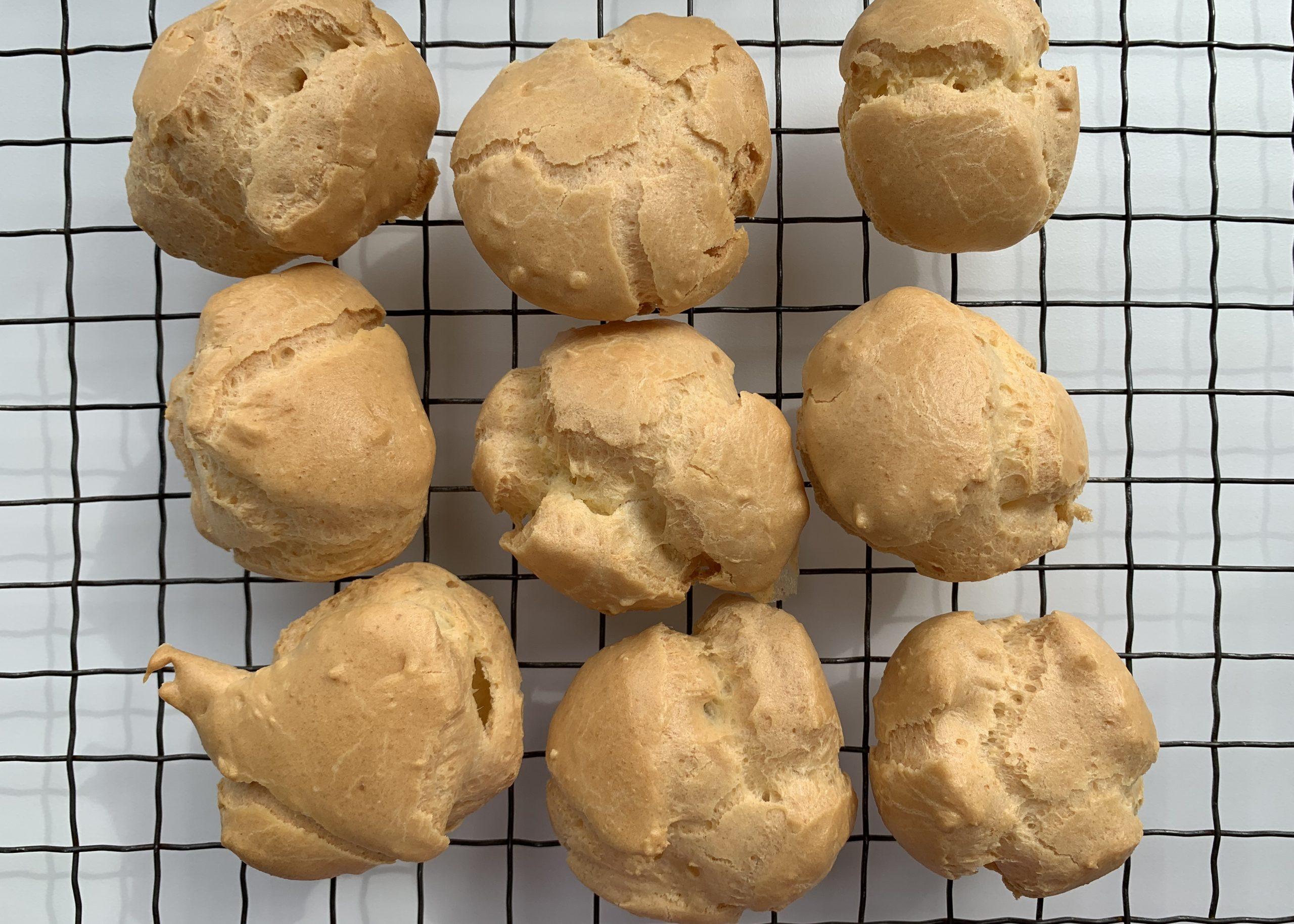 Gluten free choux buns